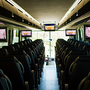 Inside Premier Transportation Touring Coach
