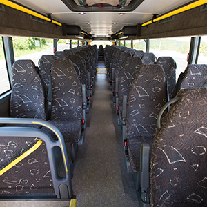Inside Premier Transportation Double Deck Coach